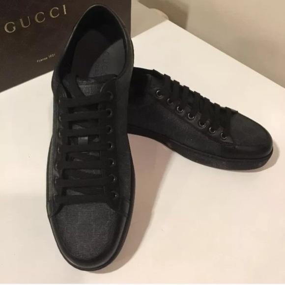 b7159c026 Gucci Shoes | New Tessuto Gg Supreme Black Sneaker 155 | Poshmark